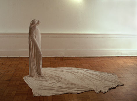 Photo of plaster sculpture by Emily Heath