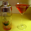 Photo of the martini drink and shaker