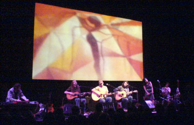 Tunng on stage at the Purcell Room