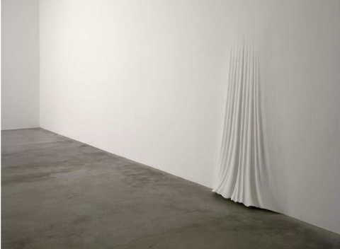 "Daniel Arsham sculpture ""Curtain"""